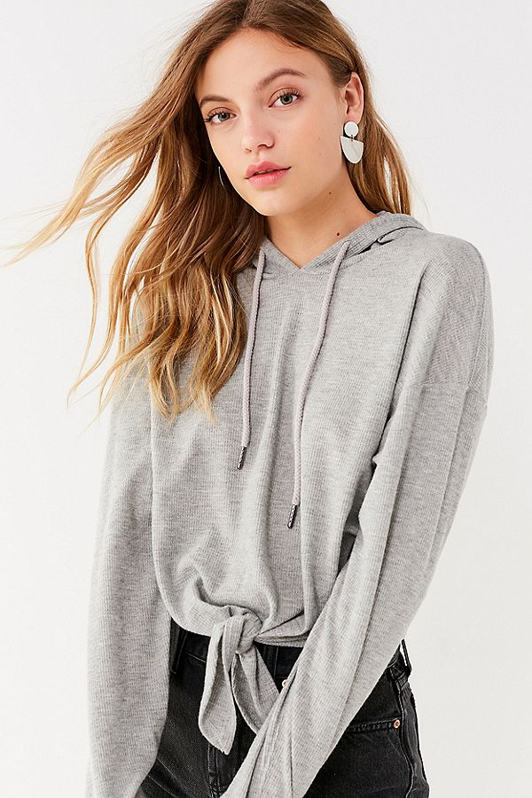knotted crop hoodie urban outfitters