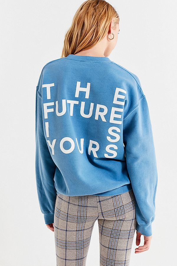 Future is yours crewneck sweatshirt Urban Outfitters
